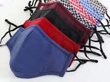 Face Mask Triple Layers 100% Cotton Washable Reusable With Pocket. Unisex