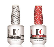 KUPA GelFinity Gel Polish BASE, No Cleanse TOP Coat .5oz/15mL 2ct
