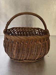 Antique Basket Oval - Basket Country Cottage Wicker/Rattan, Vintage, Art Popular