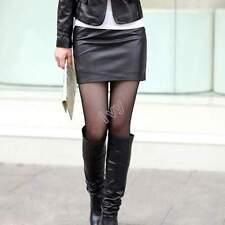 New Lot Skirts Jeans Mini Short Leather Casual Denim Blue Red Khaki White S M L