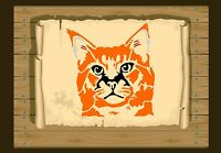 Thoughtful Cat Face Stencil 350 micron Mylar not thin stuff #Cat101