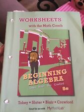 Worksheets with the Math Coach for Beginning Algebra by Jeffrey A. Hoffer, Jamie