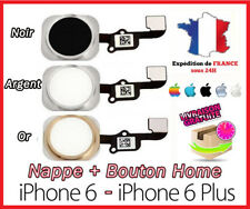 Flex Button + IPHONE Home Button 6/6 Plus - White/Argent/Gold / Golden/Black