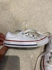Boys White Converse Trainer Shoe Size 5/22
