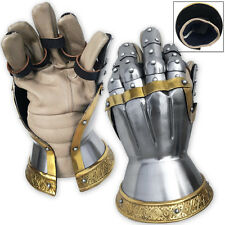 Churberg Hourglass Armor Gauntlets Brass Plated Functional 18 Gauge Carbon Steel