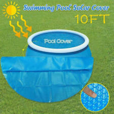 Round Solar Pool Cover Blanket Fits Swimming Pool Garden Outdoor Family Pools