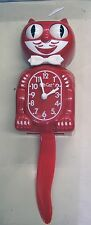 KIT CAT CLOCK  IN SCARLET RED COLOR MADE IN THE USA (FREE BATTERIES) BC-42
