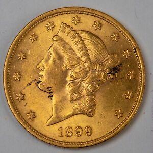 1899 $20 Twenty Dollar Liberty Head Gold Double Eagle