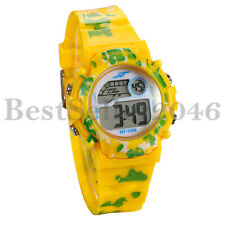 Sports Kids Wristwatch Boys Girls Alarms Multi-function Digital Camo Watches