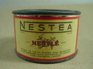 Blechdose NESTEA 50er Jahre Nestle Dose aus Blech. Wohl aus Militärbeständen!