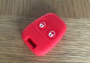 RED LAND ROVER DISCOVERY 1 DEFENDER FREELANDER SILICONE KEY FOB REMOTE COVER
