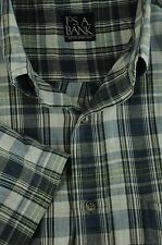 Jos un Banco Hombre Marino Blanco Roto & Verde a Cuadros Manga Corta Camisa