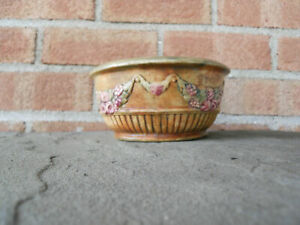 Weller Roma Roses and Grapevine Bowl Vintage Pottery