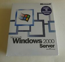 100% Genuine: Microsoft Windows 2000 Server 10 CAL Retail Box (MPN: C11-00018)