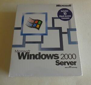 100% Genuine: Microsoft Windows 2000 Server 10 CAL Retail Box (MPN: C11-00018)