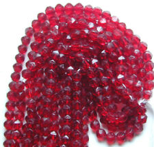 300 Vintage Rough English Cut Red 6mm Czech Glass Beads. Matches Listing 4 &5mm