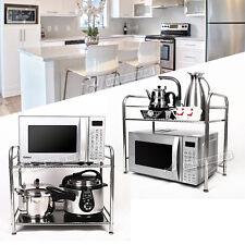 Microwave Oven Stand Shelf Kitchen Organizer Storage Rack Holder Stainless  Steel