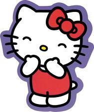 15991 Hello Kitty Laughing Purple Kawaii Japan Bow Sanrio Die Cut Sticker Decal