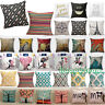 Cotton Linen Pillow Case  Waist Throw Cushion Cover Sofa Car Home Sofa Bed Decor