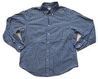 Brooks Brothers Men's Button Down Shirt XL Blue Plaid Long Sleeve XLarge