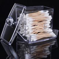Makeup Cosmetic Case Clear Q-tip Pad Swab Box Organizer Storage Holder Cotton