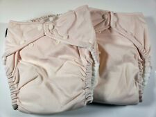2 Fuzzi Bunz Cloth Diapers Perfect Size w Inserts Large 25-45+ lbs Lt Pink Nwot
