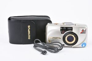 EXC++ OLYMPUS STYLUS ZOOM 140 DELUXE w/PANORAMA + DATE IN FITTED CASE *READ