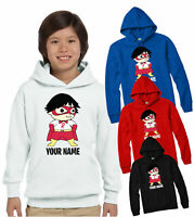 PERSONALISED RYAN TOYS REVIEW HOODIE, SCHOOL COLLEGE CHILDREN KIDS GIFT TOP