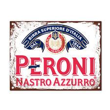 Peroni Vintage Beer Kitchen Pub Bar Metal Sign Tin Retro Plaque Garage Man Cave