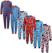 BOYS ALL IN ONE CHARACTER SLEEPSUITS PYJAMAS ONE PIECE EX STORE 1-11Y BRAND NEW