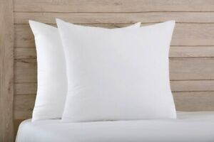 Euro Continental Satin Stripe Pillow Pair Filled with a Bounce back Hollowfibre