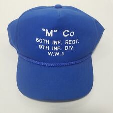 M Co Snapback Hat Dad Cap 60th Infantry Regiment 9th Infantry Division WWll Blue
