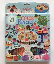 eeBoo Desserts 24 Color Pencils Colored Pencils Set Crafts Art Supplies Gift NEW