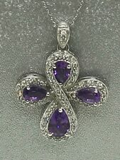 Clover Cross Crystals 10k Gold Pendant on  18 inch Necklace