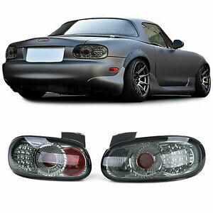 SMOKED LED TAIL LIGHTS for MAZDA MIATA MX5 NB NBFL  1998-2005 MODEL
