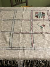 Needlepoint Hand Embroidery Stamped Table Cloth