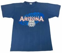Arizona Wildcats Starter mens Adult T Shirt Blue Crew Neck Cotton Tee M