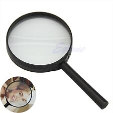 5X 75mm Magnifier Hand Held Reading Magnifying Glass Lens Jewelry Loupe Zoomer