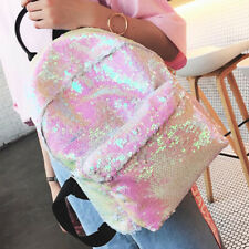 Shiny Sequins School Travel Backpack Glitter Shoulder Handbag Rucksack Girls