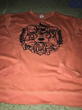Disney Store Disney World Disneyland Crew Sweat Shirt XL Big Bad Wolf Orange