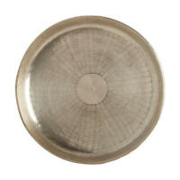 Deko Tablett Carve, metallic Silber Serviertablett im Maß: Ø30cm, H1,5cm