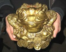 Large Brass Master of Treasures Toad – Super Fengshui Item