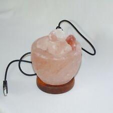 Fire Bowl Himalayan salt lamp USB power source, colour changing