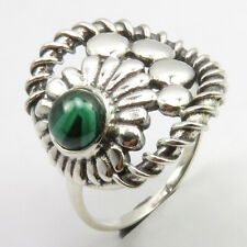 Malachite Ring Size 7 Sterling Silver Latest Style Round