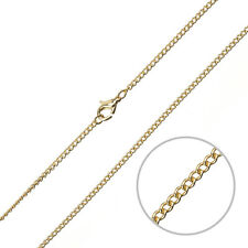"""2mm Curb Chain Jewellery Necklace With Clasp Gold Plated 16"""" (G94/14)"""