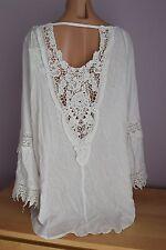 NWT  Raviya Swimwear Cover-Up Tunic Dress Crochet Sz L White
