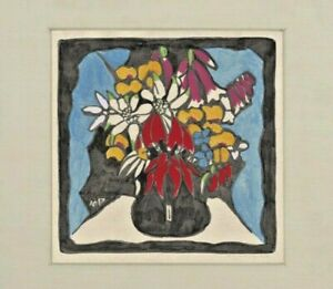 Australian Wildflower Painting Flower Margaret Preston Art Deco Folk modernist