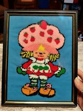 "Vintage Strawberry Shortcake Framed 8"" x 10"" Wall Art Print Yarn Art"