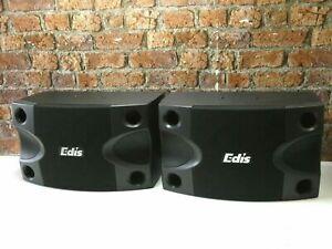 BRAND NEW! Edis E525 DJ Disco Home Hall Loudspeakers + Edis E40 Wall Brackets