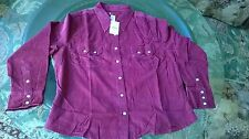 Levi's Long Sleeve Shirt Rasberry color Style AL040034 Corduroy JR, Size XL